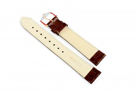 Brązowy pasek skórzany 19 mm HIRSCH Crocograin 12322810-1-19 (L)