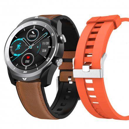 Smartwatch Pacific 15-2 Srebrny z paskiem + pomarańczowy pasek