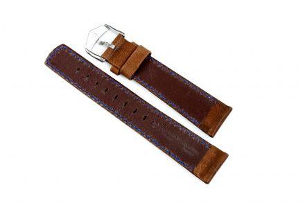 Brązowy pasek skórzany 18 mm HIRSCH Mariner 14502110-2-18 (L)