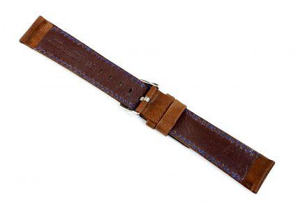 Brązowy pasek skórzany 24 mm HIRSCH Mariner 14502110-2-24 (L)