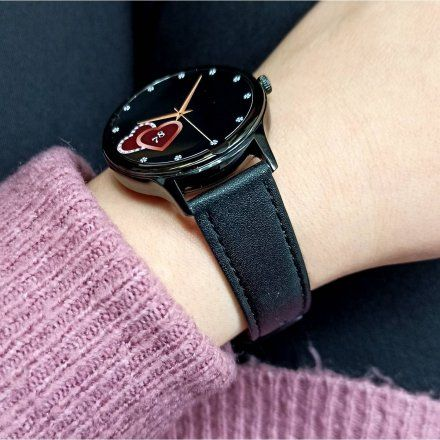 Smartwatch Pacific 18-3 Czarny z bransoletką + czarny pasek