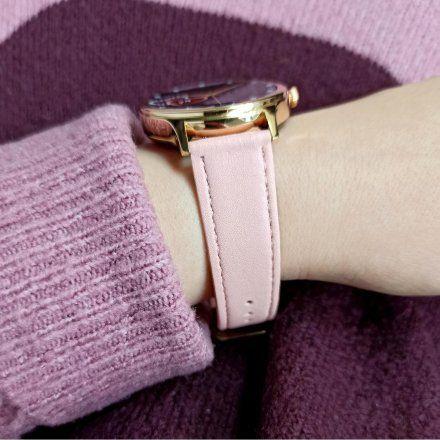 Smartwatch Pacific 18-6 Różowozłoty z różowym paskiem + biały pasek