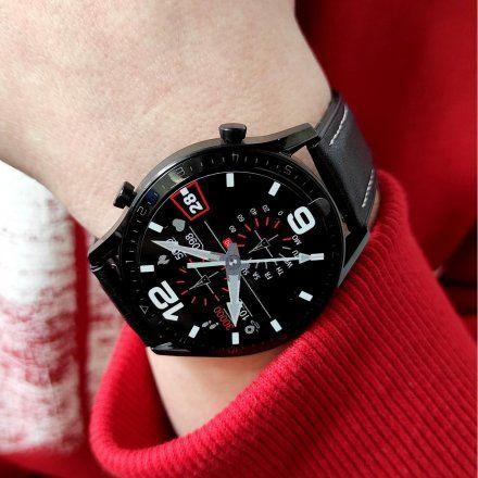 Sportowy Smartwatch Pacific 19-2 Czarny Rozmowy Kroki