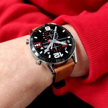 Sportowy Smartwatch Pacific 19-3 Srebrny Rozmowy Kroki