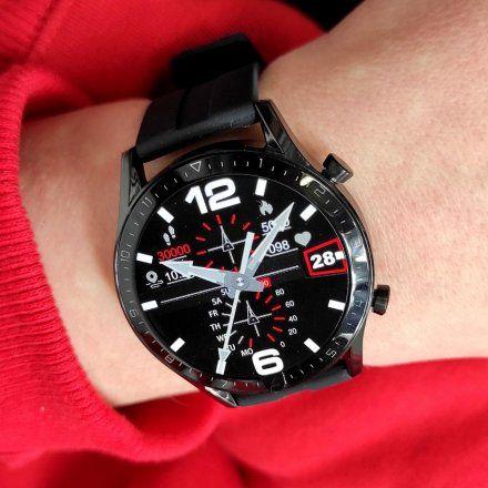 Sportowy Smartwatch Pacific 19-5 Czarny Rozmowy Kroki