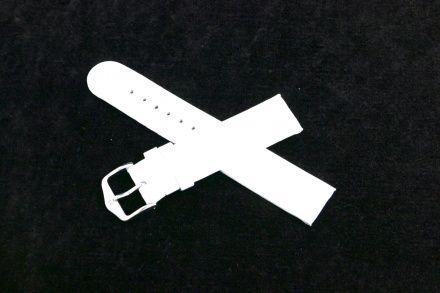 Biały pasek skórzany 20 mm HIRSCH Scandic 17852000-2-20 (M)