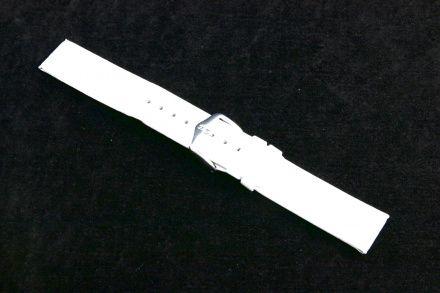 Biały pasek skórzany 24 mm HIRSCH Scandic 17852000-2-24 (M)