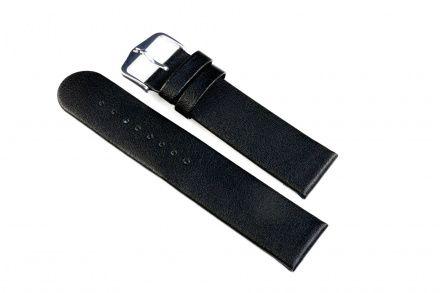 Czarny pasek skórzany 24 mm HIRSCH Scandic 17852050-2-24 (M)