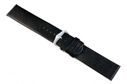 Czarny pasek skórzany 18 mm HIRSCH Scandic 17872050-2-18 (L)