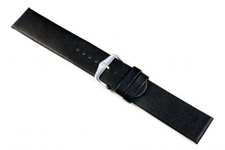 Czarny pasek skórzany 24 mm HIRSCH Scandic 17872050-2-24 (L)
