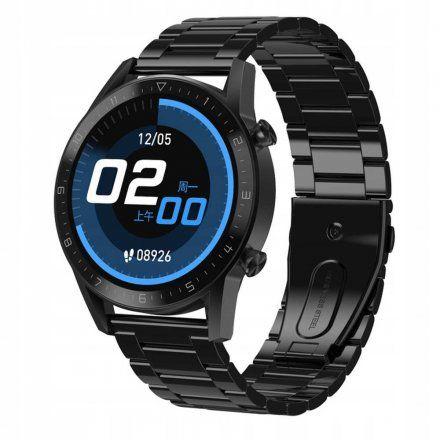 Sportowy Smartwatch Pacific 19-7 Czarny na bransolecie Rozmowy Kroki