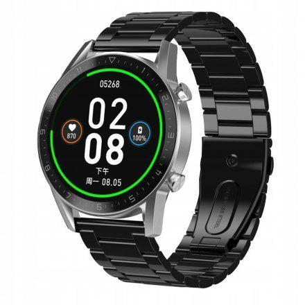 Sportowy Smartwatch Pacific 19-8 Srebrny na bransolecie Rozmowy Kroki