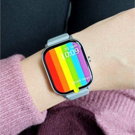 Smartwatch Pacific 20-1 Srebrny z paskiem Puls Kroki