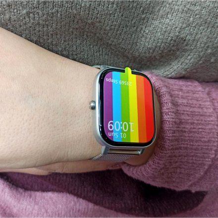 Smartwatch Pacific 20-3 Srebrny Puls Kroki