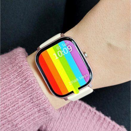 Smartwatch Pacific 20-4 Różowy Puls Kroki