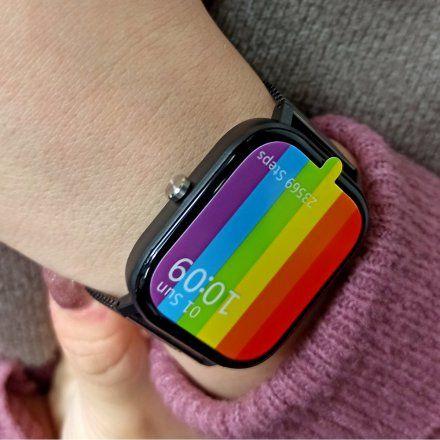 Smartwatch Pacific 20-6 Czarny Puls Kroki