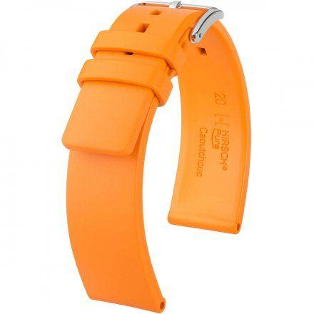 Pomarańczowy pasek kauczukowy 22 mm HIRSCH Pure 40538876-2-22 (L)
