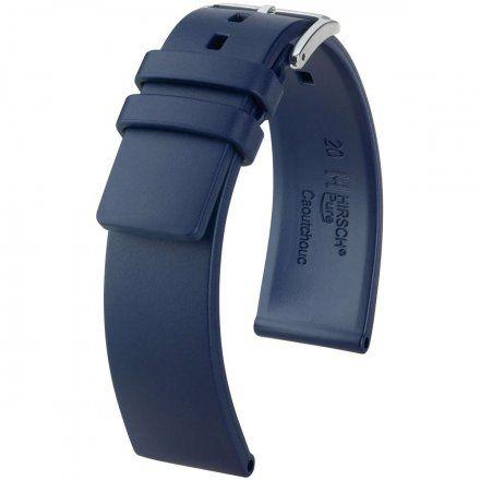 Niebieski pasek kauczukowy 22 mm HIRSCH Pure 40538880-2-22 (L)