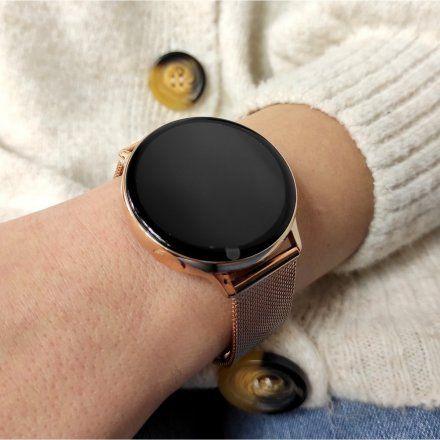 Smartwatch Pacific 24-12 Różowozłoty Puls Kroki