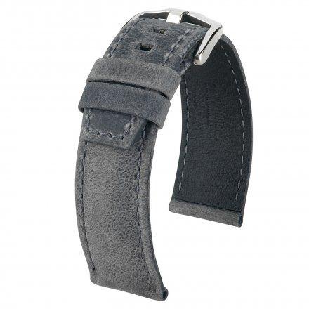 Czarny pasek skórzany 22 mm HIRSCH Tritone 08564030-2-22 (L)