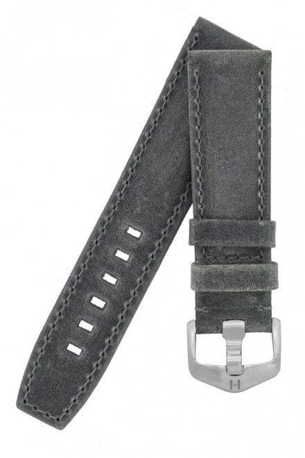Szary pasek skórzany 22 mm HIRSCH Tritone 08564030-2-22 (L)
