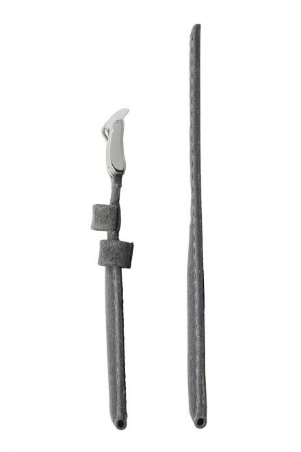 Szary pasek skórzany 24 mm HIRSCH Tritone 08564030-2-24 (L)