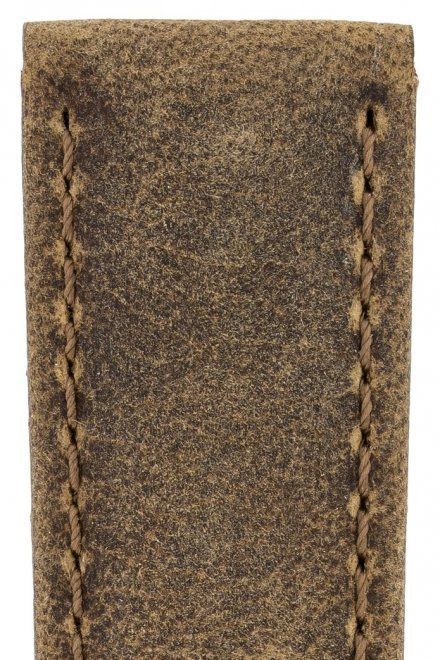 Brązowy pasek skórzany 22 mm HIRSCH Tritone 08564073-2-22 (L)