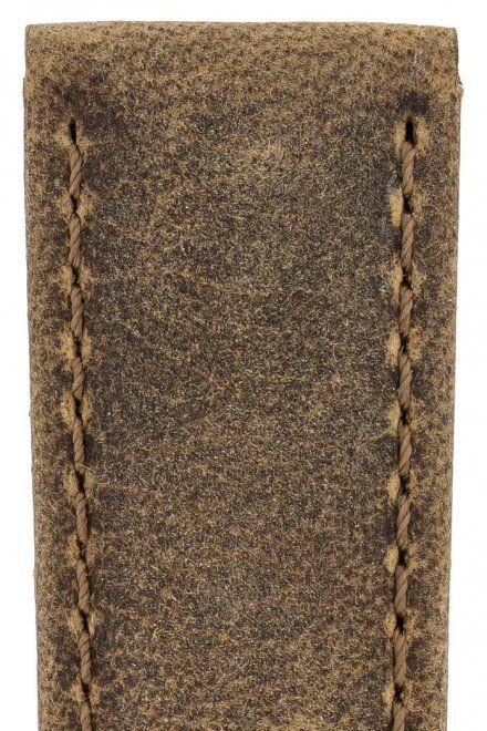 Brązowy pasek skórzany 24 mm HIRSCH Tritone 08564073-2-24 (L)