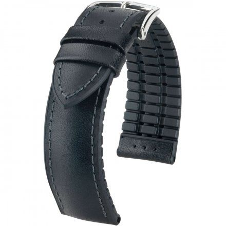 Czarny pasek skórzany 22 mm HIRSCH James 0925002050-2-22 (L)