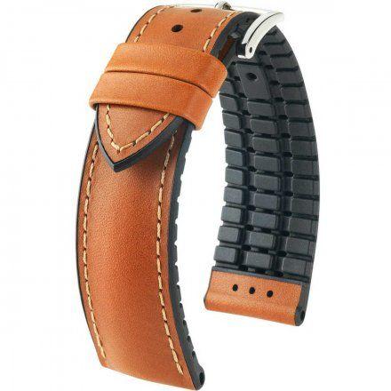 Jasnobrązowo-czarny pasek skórzany 18 mm HIRSCH James 0925002070-2-18 (L)