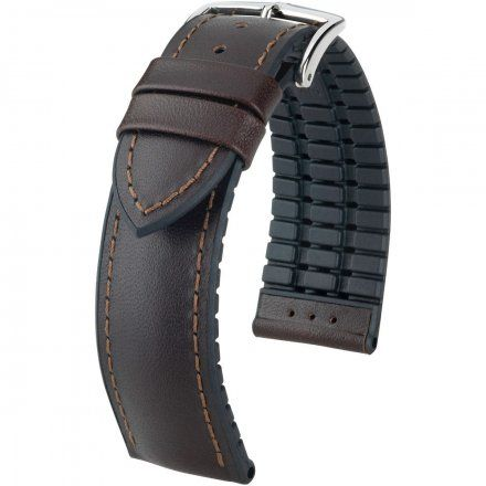 Brązowo-czarny pasek skórzany 20 mm HIRSCH James 0925002110-2-20 (M)