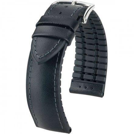 Czarny pasek skórzany 20 mm HIRSCH James 0925002150-2-20 (M)