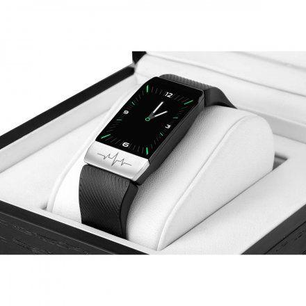 Czarny smartwatch z termometrem Rubicon RNCE60DIBX01BX + PASEK NIEBIESKI