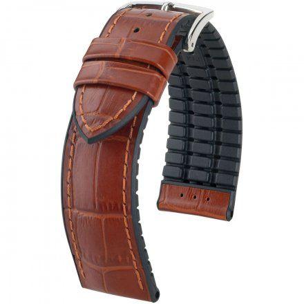 Jasnobrązowo-czarny pasek skórzany 18 mm HIRSCH Paul 0925028070-2-18 (L)