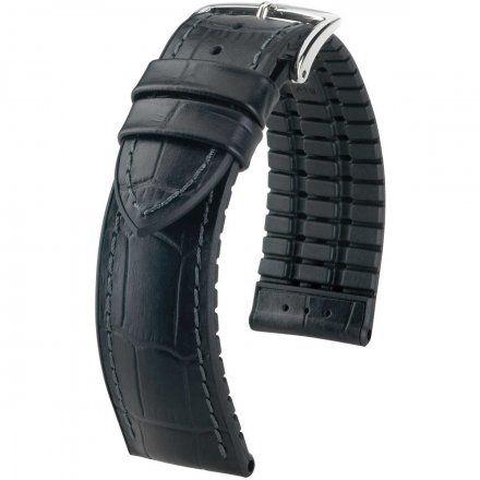 Czarny pasek skórzany 18 mm HIRSCH Paul 0925028050-2-18 (L)