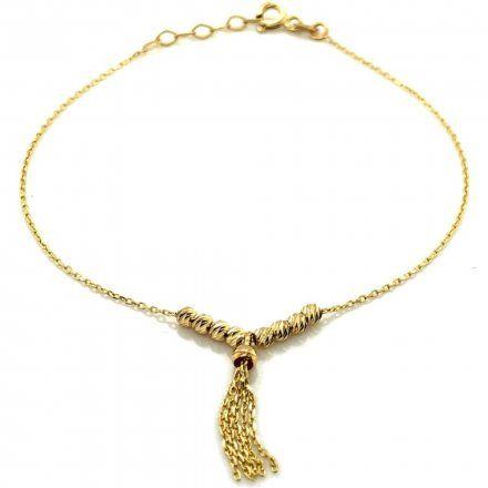 Biżuteria SAXO Złota bransoletka złota kuleczki z łańcuszkiem 2-4-B00024-1.10