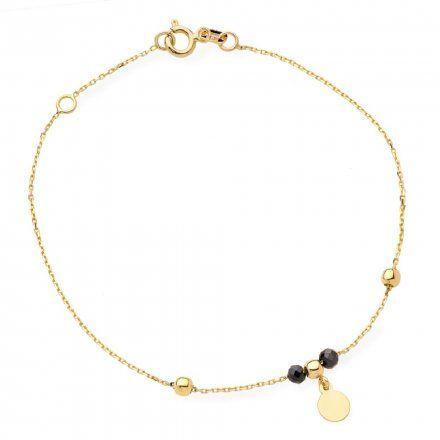 Biżuteria SAXO Złota bransoletka złota kółko koraliki 2-21-B00381-0.96
