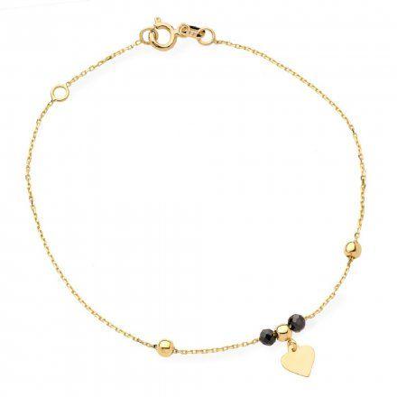 Biżuteria SAXO Złota bransoletka złota serce koraliki 2-21-B00382-2-0.98