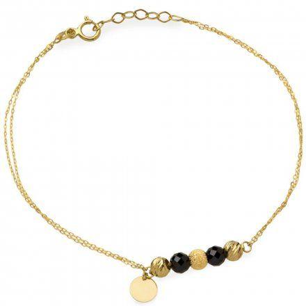 Biżuteria SAXO Złota bransoletka kółka koraliki 2-4-B00375-1.17