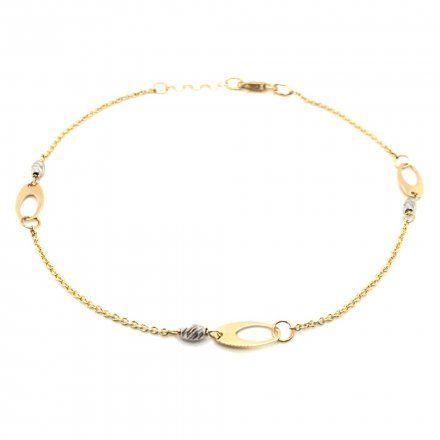 Biżuteria SAXO Złota bransoletka złota z koralikami z białego złota 2-5-B00209-2.52