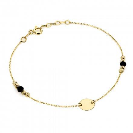 Biżuteria SAXO Złota bransoletka kółko kuleczki 2-25-B00321-1.07