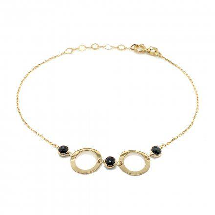 Biżuteria SAXO Złota bransoletka kółko kamienie 2-16-B00228-1.22