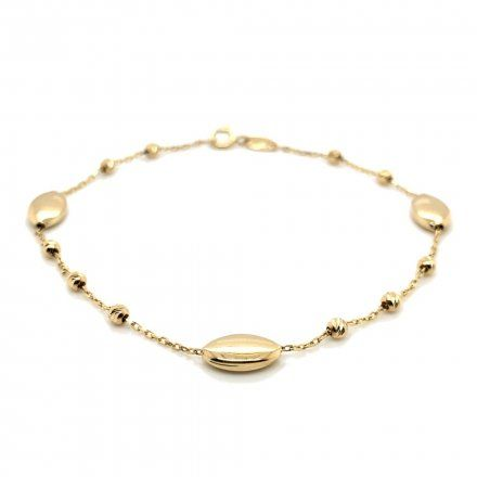 Biżuteria SAXO Złota bransoletka złota owale kuleczki 2-17-B00107-1.58