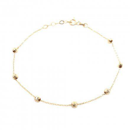 Biżuteria SAXO Złota bransoletka kuleczki 2-21-B00310-1.07