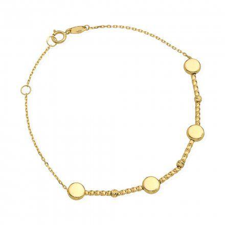 Biżuteria SAXO Złota bransoletka kuleczki koła 2-17-B00481-1.67