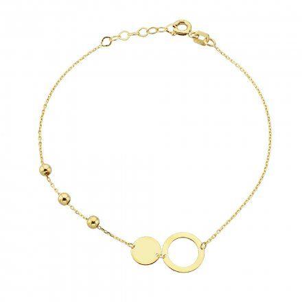Biżuteria SAXO Złota bransoletka kuleczki koła 2-21-B00466-1.06