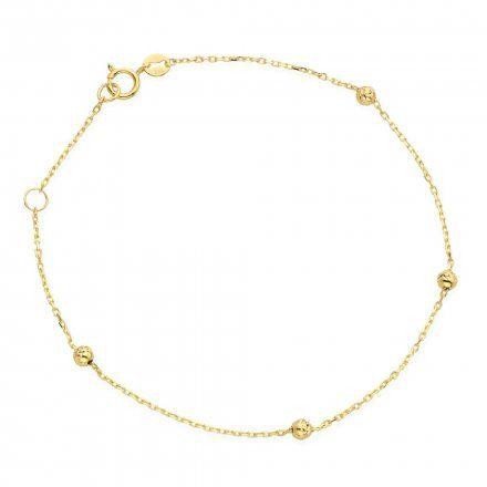 Biżuteria SAXO Złota bransoletka kuleczki 2-17-B00500-0.83