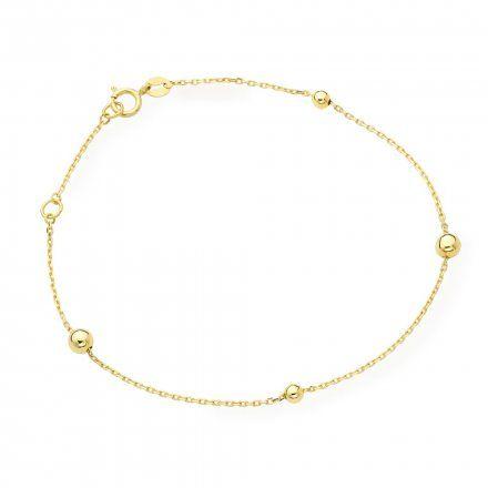 Biżuteria SAXO Złota bransoletka kuleczki 2-25-B00415-0.98
