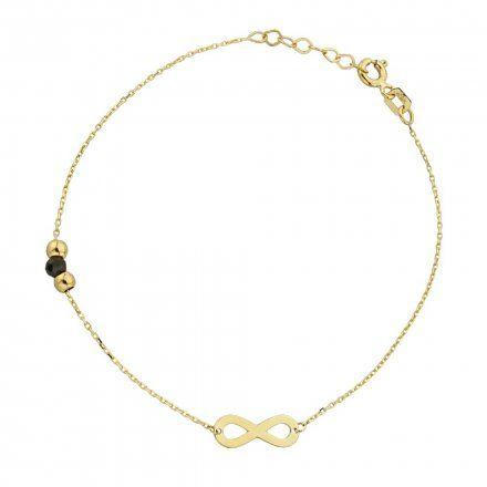 Biżuteria SAXO Złota bransoletka złote kuleczki i nieskończoność2-21-B00432-0.93