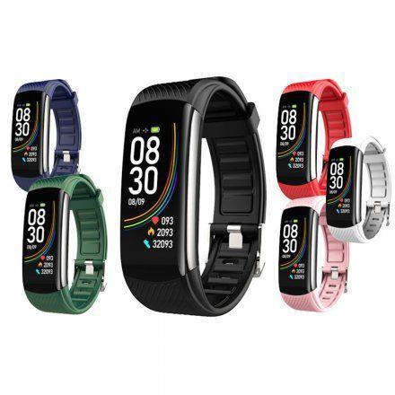 Czarny smartwatch męski damski Rubicon RNCE59DIBX01AX + GRANATOWY PASEK
